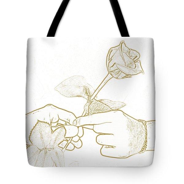 Rose Outline By Jan Marvin Studios Tote Bag