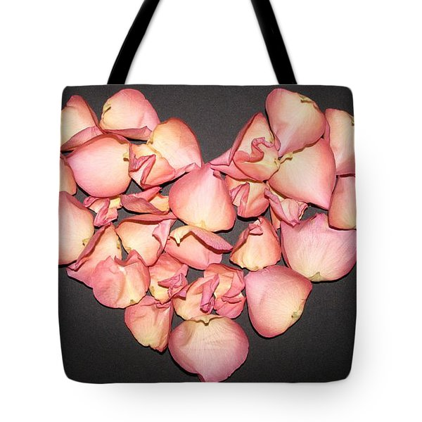 Rose Petals Heart Tote Bag