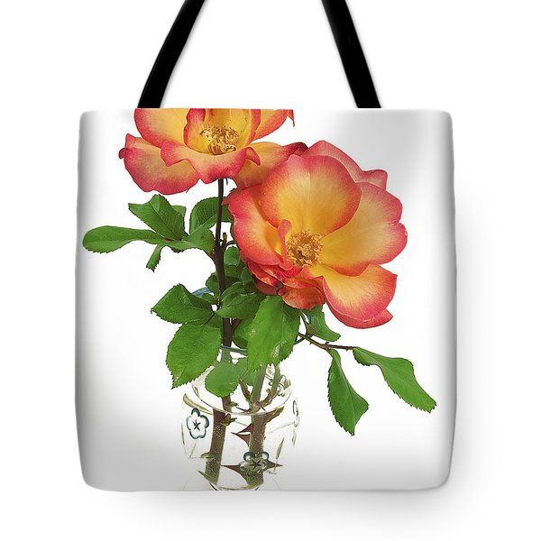 Tote Bag featuring the photograph Rose 'playboy' by Richard J Thompson