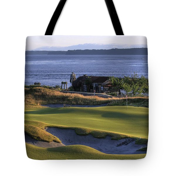 Hole 17 Hdr Tote Bag by Chris Anderson