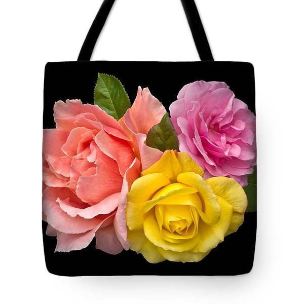 Rose Trilogy Tote Bag by Jane McIlroy