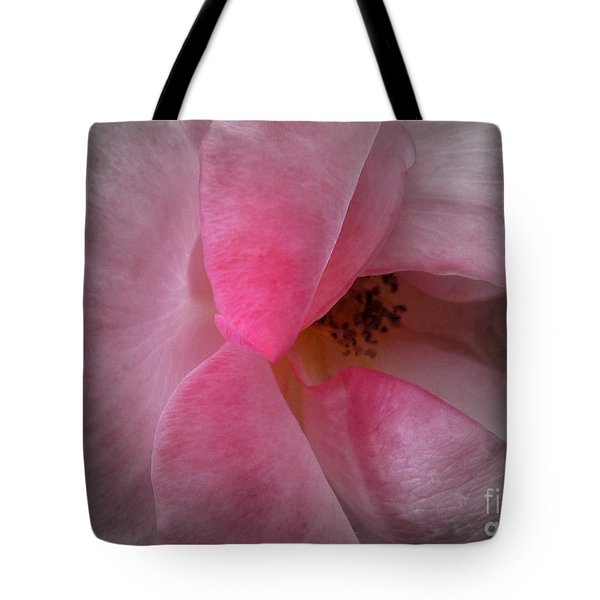 Tote Bag featuring the photograph Rose Voluptuous by Jean OKeeffe Macro Abundance Art
