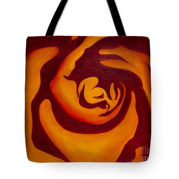 Rose Whirl 2 Tote Bag