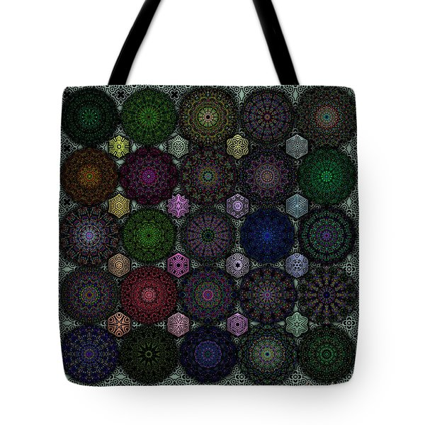 Rose Window Kaleidoscope Quilt Tote Bag