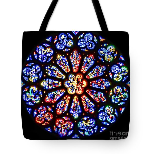 Rose Window Of Grace Cathedral By Diana Sainz Tote Bag