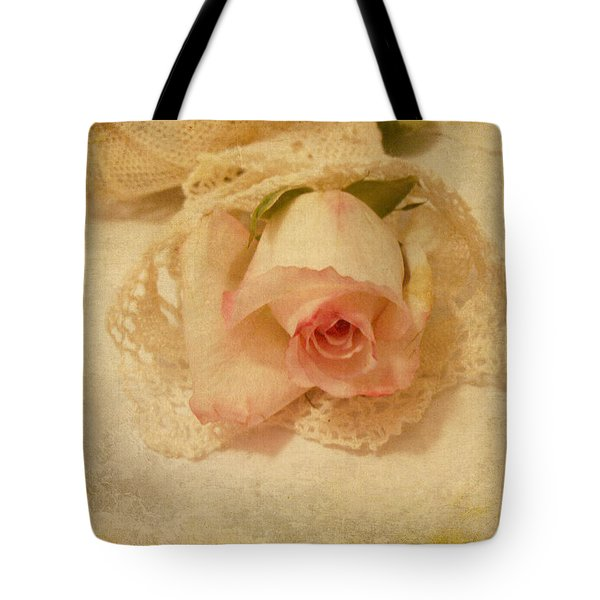 Tote Bag featuring the photograph Rose With Vintage Feel by Sandra Foster
