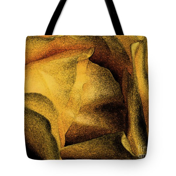 Tote Bag featuring the photograph Rose Yellow Fresco by Jean OKeeffe Macro Abundance Art