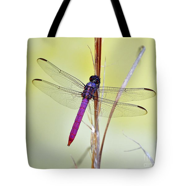 Roseate Skimmer Dragonfly Tote Bag by Al Powell Photography USA