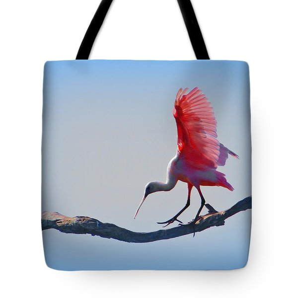 Roseate Spoonbill Tote Bag by David Mckinney