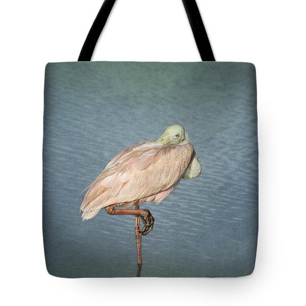 Roseate Spoonbill Tote Bag by Kim Hojnacki