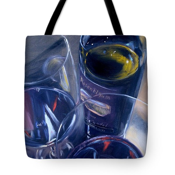 Rosenblum And Glasses Tote Bag by Donna Tuten