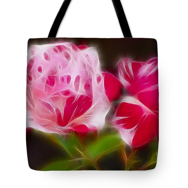 Roses 6221-fractal Tote Bag by Gary Gingrich Galleries