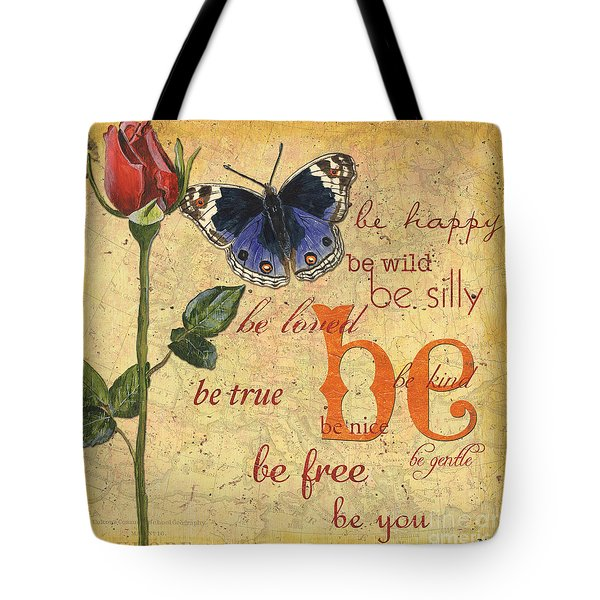 Roses And Butterflies 1 Tote Bag