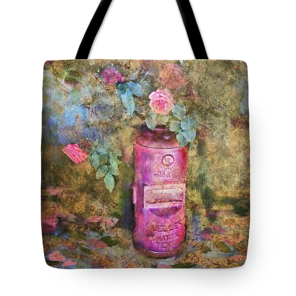 Roses And Fire Hydrant Tote Bag