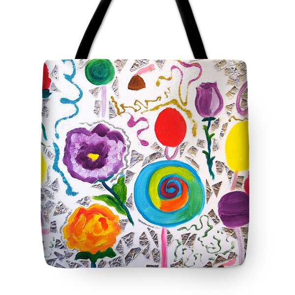 Roses And Lollipops For Mom Tote Bag