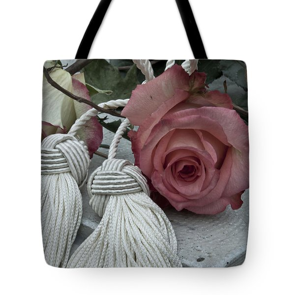 Tote Bag featuring the photograph Roses And Tassels by Sandra Foster