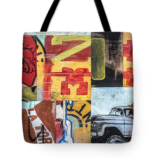Roses And Trucks Tote Bag