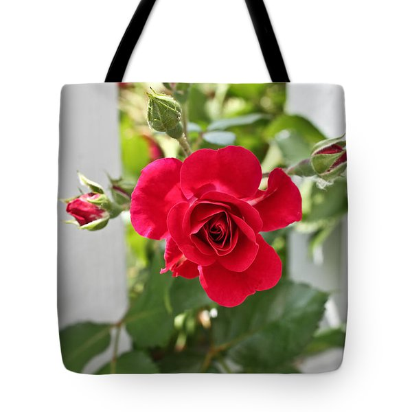 Tote Bag featuring the photograph Roses Are Red by Joann Copeland-Paul