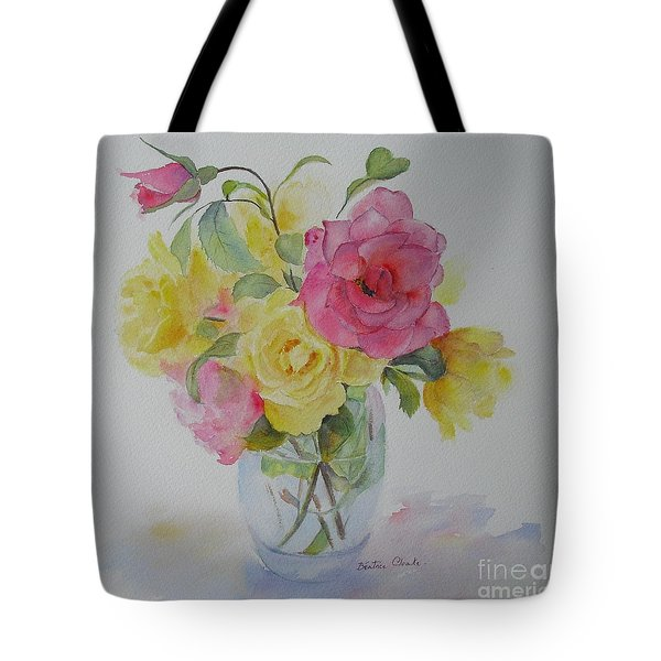 Tote Bag featuring the painting Roses by Beatrice Cloake