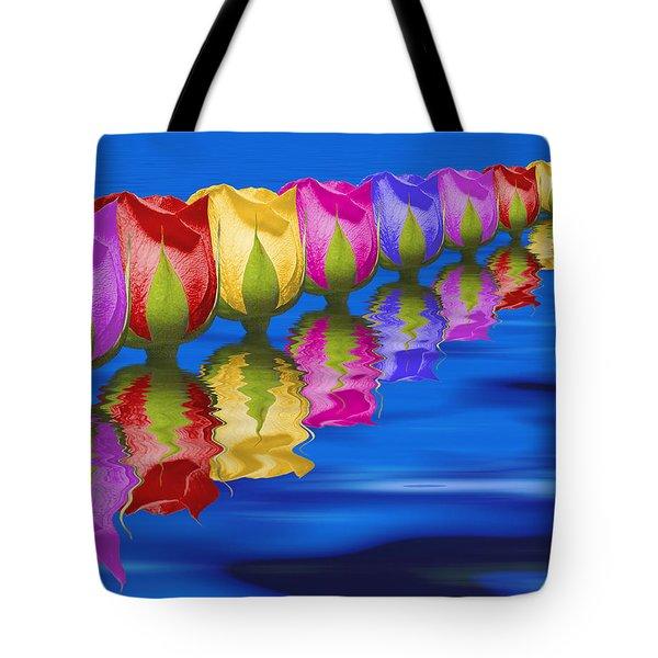Roses Floating Tote Bag