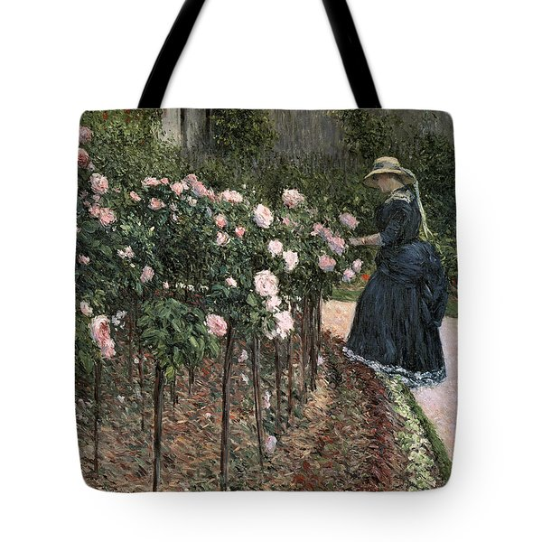 Roses In The Garden At Petit Gennevilliers Tote Bag