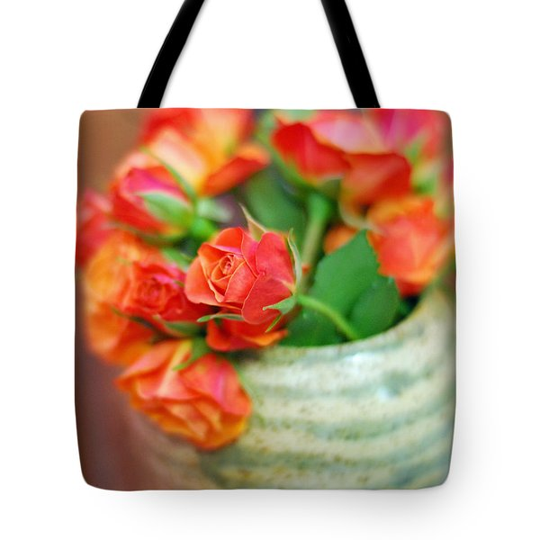 Tote Bag featuring the photograph Roses by Lisa Phillips