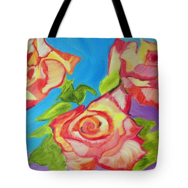 Rosey Tote Bag by Meryl Goudey