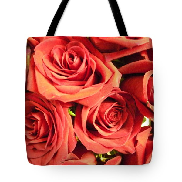 Roses On Your Wall Tote Bag