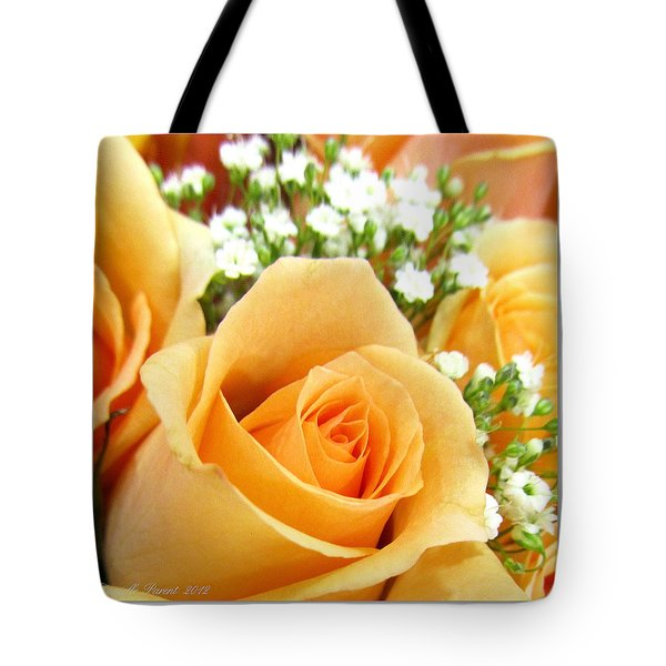 Roses Orange Blossoms Tote Bag by Danielle  Parent