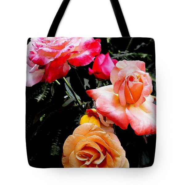Tote Bag featuring the photograph Roses Roses Roses by James C Thomas