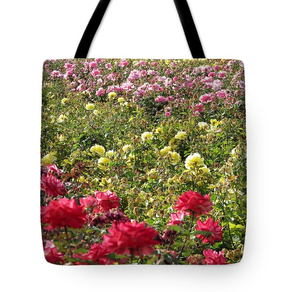 Tote Bag featuring the photograph Roses Roses Roses by Laurel Powell