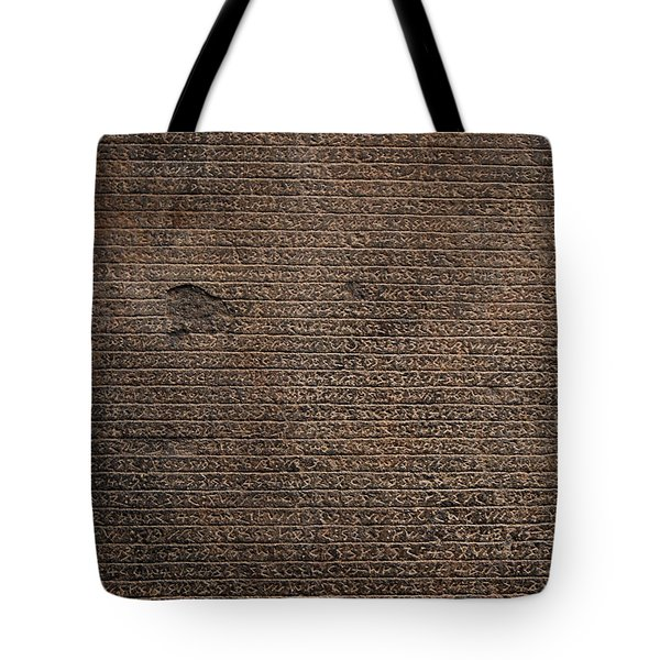Rosetta Stone Texture Tote Bag