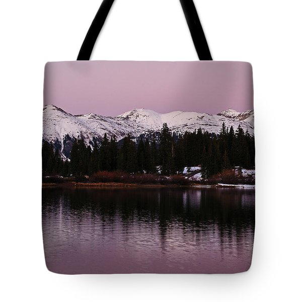 Rosey Lake Reflections Tote Bag