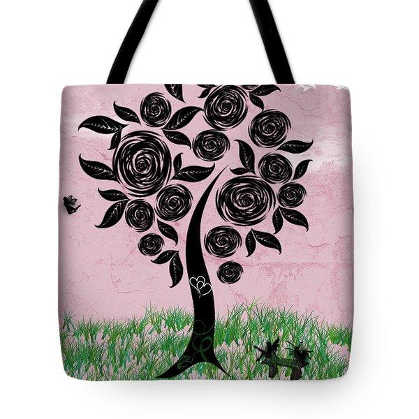 Rosey Posey Tote Bag
