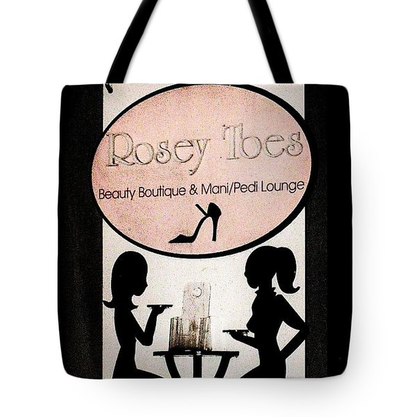Tote Bag featuring the photograph Rosey Toes by John King