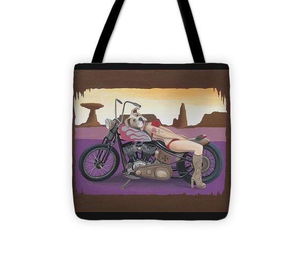 Rosie The Pitbull Pinup Tote Bag by Stuart Swartz