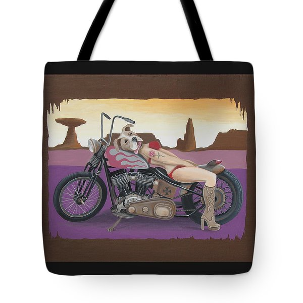 Rosie The Pitbull Pinup Tote Bag