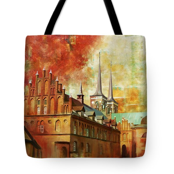 Roskilde Cathedral Tote Bag by Catf