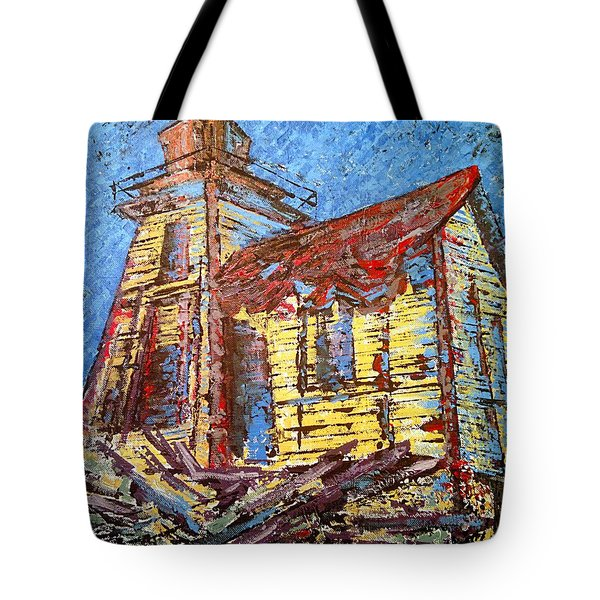 Ross Island Lighthouse Tote Bag