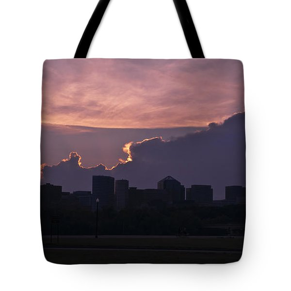 Rosslyn Skyline Tote Bag by Deborah Klubertanz