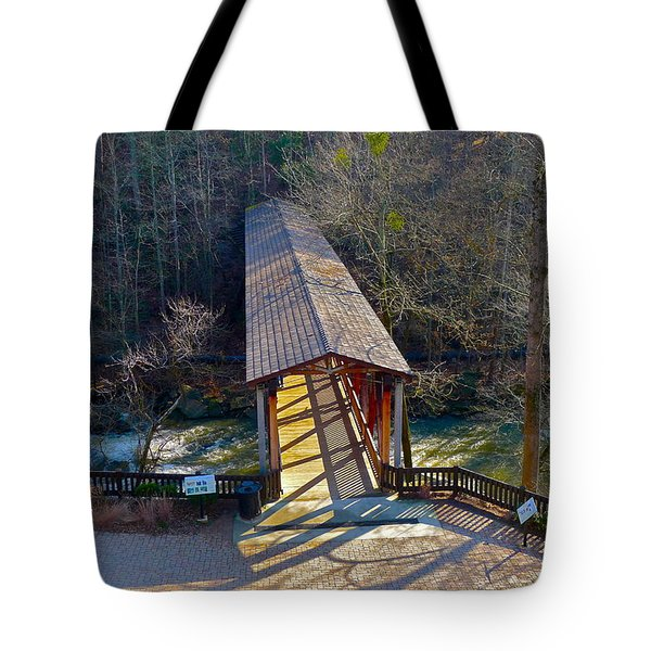 Roswell Covered Bridge Tote Bag