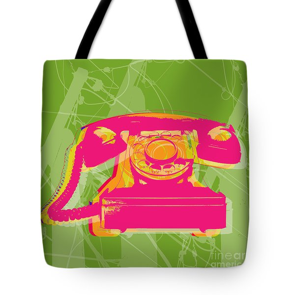 Rotary Phone Tote Bag by Jean luc Comperat