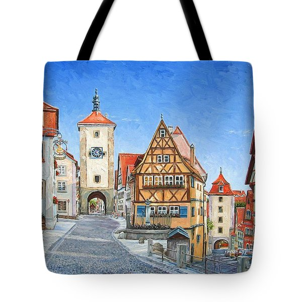 Rothenburg Germany Tote Bag by Mike Rabe