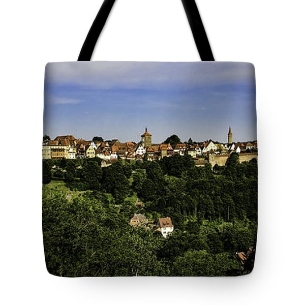 Rothenburg Panorama Tote Bag by Joanna Madloch