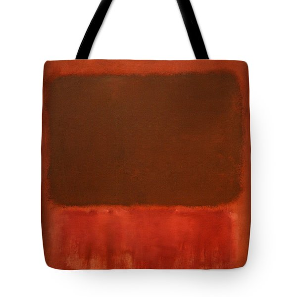 Rothko's Mulberry And Brown Tote Bag by Cora Wandel