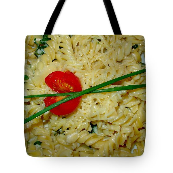 Rotini Alfredo Tote Bag by Karon Melillo DeVega