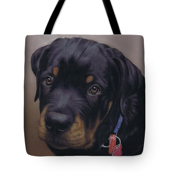Rottweiler Dog Tote Bag by Karie-Ann Cooper