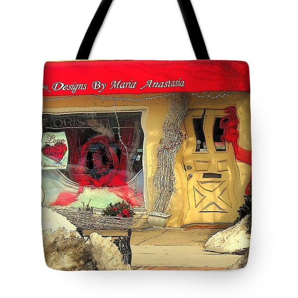 Rouge On The Rue Tote Bag by Tami Quigley