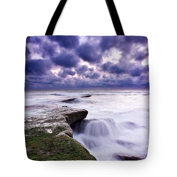 Rough Sea Tote Bag by Jorge Maia