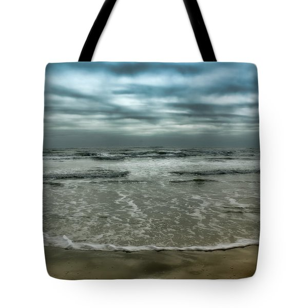 Tote Bag featuring the photograph Rough Surf by Ellen Heaverlo